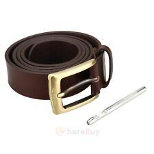 Men's Casual Jean Belt 35MM Genuine Dakota Leather Signature Buckle Waist Strap