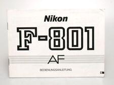 Nikon F-801 AF Bedienungsanleitung