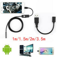 AN97 Wire Endoscope 6 LED IP67 Borescope Inspection Camera For PC Android Laptop