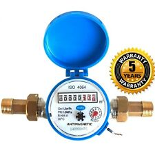 """15mm 1/2"""" Cold Water Meter Garden & Home With Fittings"""