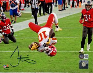 Tyreek Hill Autographed/Signed Kansas City Chiefs 8x10 Photo BAS 33267