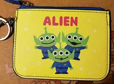 Toy Story Alien Little Green Men PVC zipper coin wallet ID case with keyring