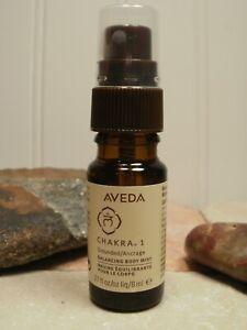 Aveda Chakra 1 GROUNDED Balancing Body Mist Spray .27 oz ~ 8 ml Travel Size New