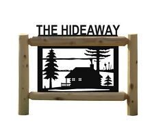 PERSONALIZED CABIN SIGNS - RUSTIC LOG CABIN DECOR