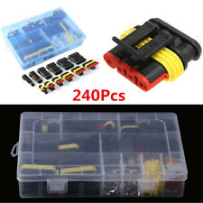 240x Universal Car Waterproof Electrical Wire Connector Plug 1-6 Pin+Blade Fuses