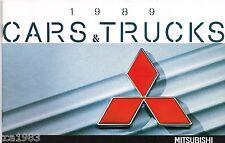 1989 Mitsubishi Catalog :GALANT,ECLIPSE,MIRAGE,MONTERO,PRECIS,SIGMA,WAGON,PickUp