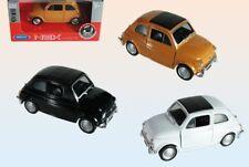 3x Fiat Oldtimer Nuova 500 L Modellauto 11cm 1:24 Cinquecento NEU Welly Spilzeug