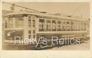 RPPC Interstate Street Railway #111 Streetcar 1900-1910 Postcard Attleboro MA