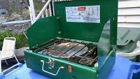 Vtg Coleman 421E 2 stoves Naphtha gas Camping  oven ORIGINAL Item 1970s