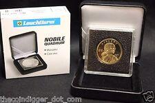26mm Coin Display 2x2 Capsule NOBILE Q50 Box Case Lighthouse QUADRUM INTERCEPT#1