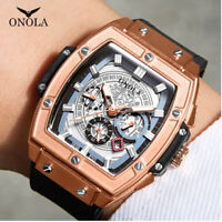 ONOLA Men's Swiss Watch Made Tourbillon Homage QUARTZ Movement NEW
