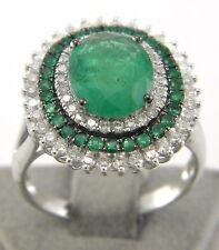 Reinheit SI Echte Diamanten-Ringe mit Smaragd