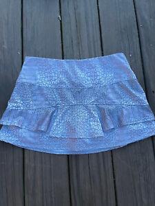 Lucky In Love Athletic Tennis Skort Skirt Shorts Medium (8-10) Grey Alligator