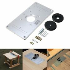 Sliver Aluminum Metal Router Table Insert Plate Insert Rings DIY For Woodworking