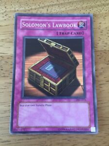 Solomon's Lawbook Yugioh Trading Card PSV-013 Trap Card