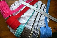 VELVET & FABRIC RIBBON 10-38mm Wide 3 Metre Lengths (2 Stitched) 6 Style Choice