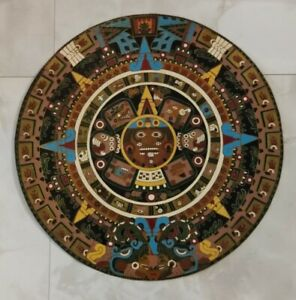Azteken Kalender Metall Handarbeit Souvenir Deko Sammlung Auflösung Handarbeit