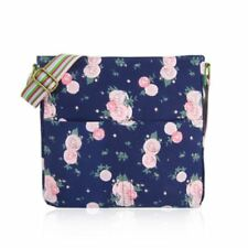 Women's canvas cross body bag with a mixed Blossom Flower print