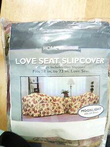 Home Essentials Moonlight Green Love Seat Slip Cover