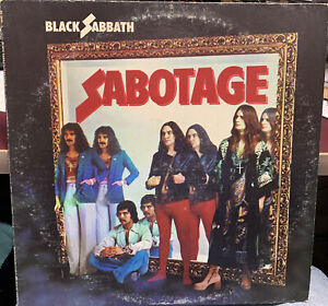Black Sabbath Sabotage 1975 WB BS2822 sterling stamp INNER