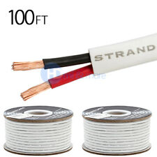 2x 100 FT Feet True 16 Gauge AWG Speaker Wire Cable Car Home Audio 2 Conductor