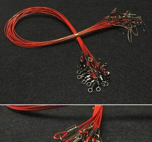 """Fishing Wire Leaders 19.68""""/50CM 68KG/150Lb Heavy Duty Steel Leader Wire Line"""