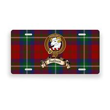 Ruthven Scottish Clan Tartan Novelty Auto Plate Tag Family License Plate