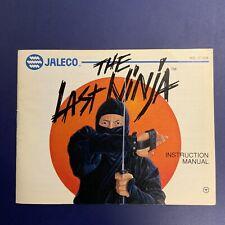 Nintendo NES Manual / Instruction Booklet - The Last Ninja - No Game Freeship
