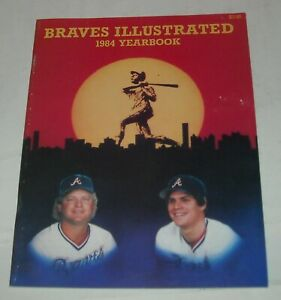 ATLANTA BRAVES 1984 YEARBOOK MLB SOUVENIR MAGAZINE HANK AARON DALE MURPHY