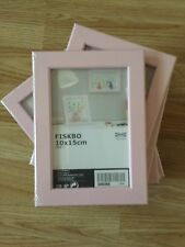 10 x IKEA FISKBO  Picture Art Frames 10 x15 cm 4x6inches Pink - £14.99 FREE P&P