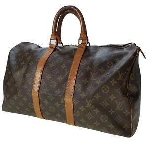 Louis Vuitton LV Monogram Keepall 45 M41428 travel bag used 6-5-C47