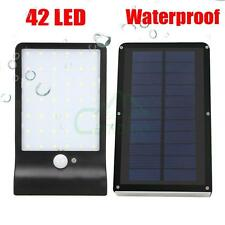 42LED Solar Power PIR Motion Sensor Wall Lamp Garden Outdoor Waterproof Light US