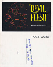 DEVIL IN THE FLESH THE MOVIE UNUSED ADVERTISING COLOUR POSTCARD