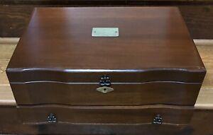 Eureka Mfg. Co. Jewelry Chest/Box For Reed & Barton Mahogany Velvet Lining