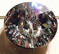 SWAROVSKI CRYSTAL Sew su 3015 Rivoli pulsanti 23 mm Chiaro sventate Diamanté