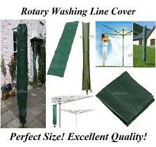 STRONG ROTARY WASHING LINE COVER CLOTHES AIRER DRIER PROTECT PARASOL WATERPROOF