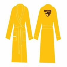 Hawthorn Hawks Dressing Gown With Embroidered Logo AFL New