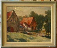 Ölbild, Impressionismus, Bauernhof, Eifel, Ardennen