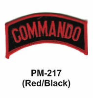 "3"" (RED/BLACK) Embroidered Military Patch"