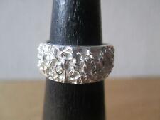 Ringe ohne Steine im Band-Stil mit Armband aus echtem Edelmetall Ø) 53 (16,8