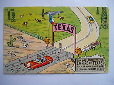 """CPSM """"You are entering the empire of Texas. Pick up your boots and ten..."""""""