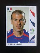 ZIDANE 2006 Panini Germany World Cup Sticker #467 Soccer France Last Cup Panini