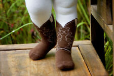Infant/Toddler Brown Cowboy Boot Tights, Bootzies! Size 6-18 Mos Adorable!