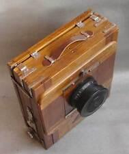 Vintage FKD 18x24cm wooden large format camera, w/ Industar-13 4.5/30cm lens EXC