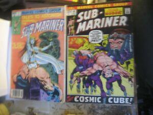 2 MARVEL  SUB MARINER COMICS-1980 TALES TO ASTONISH #9 & 1972 SUB MARINER #49