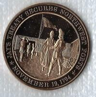 +1794 Jay's Treaty Secures Northwest Forts - Franklin Mint Solid Bronze Medal