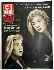►CINE REVUE 8/1955-BETTY HUTTON-ALAN LADD-JOHN ERICSON-LUDMILLA TCHERINA-CARREL