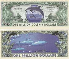 100 Dolphins One Million Dollars Novelty Money Bill Lot