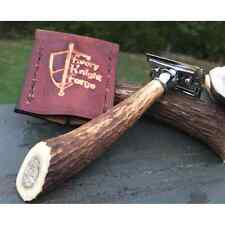 Every Knight Forge Stag Handle DE Safety Razor & Travel Sheath (made in USA)