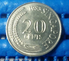 1983 Singapore 20 Cents Sword Fish Coin